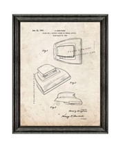 Vacuum Cleaner Patent Print Old Look with Black Wood Frame - $24.95+