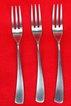 "3X Salad Forks Studio William Larch-Satin Curved Stainless Flatware Fork 7 3/8"" - $42.57"