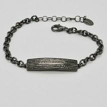 Armband 925 Silber Brüniert Schwarz, Herren Damen By Maria Ielpo Made in... - $137.25
