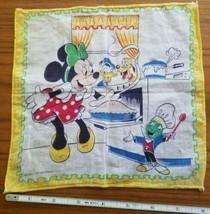 "Minnie Mouse in the Kitchen Baking Cloth Napkin 8"" Donald Duck Pluto Walt Disney - $14.50"
