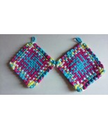 Handmade Pot Holders Hot Pads Loom Loop Woven Potholders Custom Trivet Coa - $9.99