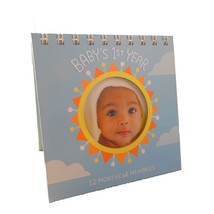 Baby Photo Memory Book Picture Frame Hallmark Baby's 1st Year of Memories - $11.83