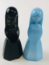 Mosser Glass ~ Vi Hunter ~ Jenny Doll ~ Black Pearl & stardust - $17.33
