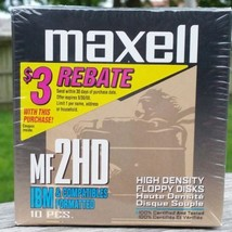 Maxell MF 2HD High Density Floppy Disks IBM & Compatibles Formatted 10 P... - $24.99