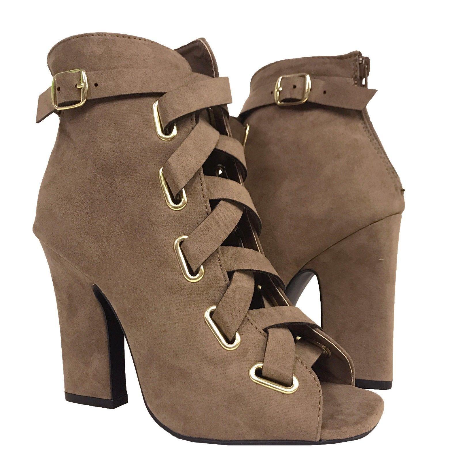 78ed0c9e3e5 Qupid Women s Lite-04 Peep Toe Ankle Buckle and 50 similar items. S l1600