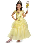 Belle Disguise Disney Princess Beauty & The Beast Costume +Gloves XS (3+... - $27.65