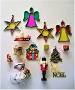 Lot of 14 Assorted Vintage Christmas Ornaments Angels - Mrs Mouse -Soldi... - $6.95
