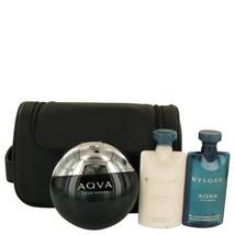 AQUA POUR HOMME by Bvlgari Gift Set -- 3.4 oz Eau De Toilette Spray + 2.5 oz Aft
