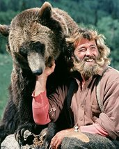 Dan Haggerty in The Life and Times of Grizzly Adams with bear smiling 16x20 Canv - $69.99