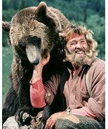 Dan Haggerty in The Life and Times of Grizzly Adams with bear smiling 16... - £54.82 GBP