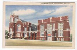 First Baptist Church Oklahoma City OK linen postcard - $5.94