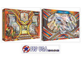 Tapu Koko Figure Collection & Lycanroc GX Box POKEMON TCG 8 Booster Packs - $44.99