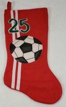 Santa's Best SOCCER Ball #25 Red Christmas Stocking  - $19.99