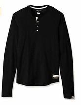 Champion Men's Authentic Originals Long Sleeve Henley Shirt Black XL Ext... - $15.09