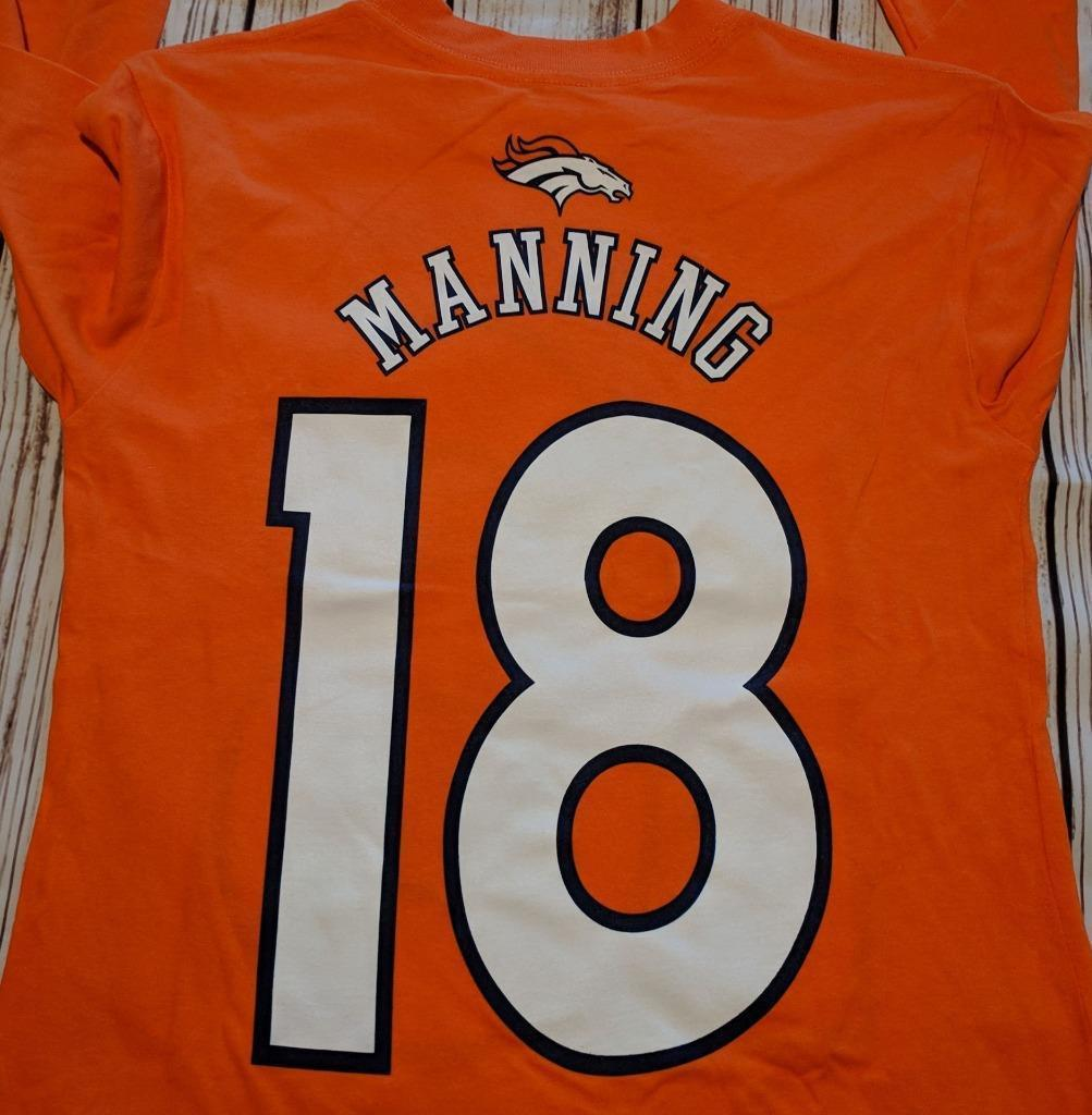 LZ NFL Team Apparel Boy's M 10/12 Denver Broncos Long Sleeve Tee Shirt NEW R39