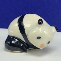 Panda figurine miniature porcelain fine bone china hagen renaker sculptu... - $19.07