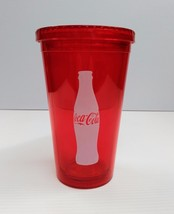Coca-Cola 16oz Red Tumbler Cup w/ Lid - BRAND NEW - $11.14