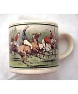Vintage Ralph Lauren Polo Match Coffee Mug Cup Korea Equestrian Horses ... - $9.99
