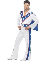 "EVEL KNIEVEL COSTUME, EVEL KNIEVEL LICENSED FANCY DRESS, CHEST 38""-40"", ... - $59.91"