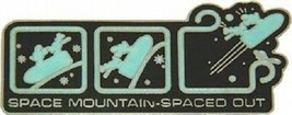 Disney Attractions Spaced Out WDW Space Mountain Ride Glow in the Dark pin - $16.65