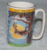 Cat Tales Mug Gary Patterson 1998 Cartoon Kitty Says Now What? - $9.85