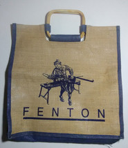 Fenton Art Glass Company Collectible Burlap Sack Bag Carrying Case Worke... - $133.64