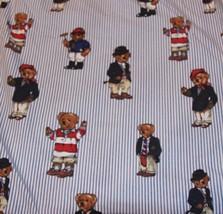 Polo Ralph Lauren Teddy Bear Flat Sheet Twin Size Print Bedding Linen Pi... - $27.89