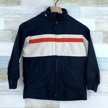 Gap Kids Rain Jacket Coat Windbreaker Hooded Blue White Red Youth Size S... - $24.74