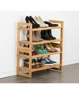 NEW TRINITY Bamboo 2-tier Shoe Rack, 2-pack FREE SHIPPING - $69.99