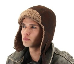 SteamPunk WW I Aviator Style Brown Lined Hat / Cap, NEW - $19.34