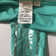 L Space Monique Side Back Ruched Bikini Bottoms Green Blue Hipster Womens L image 5