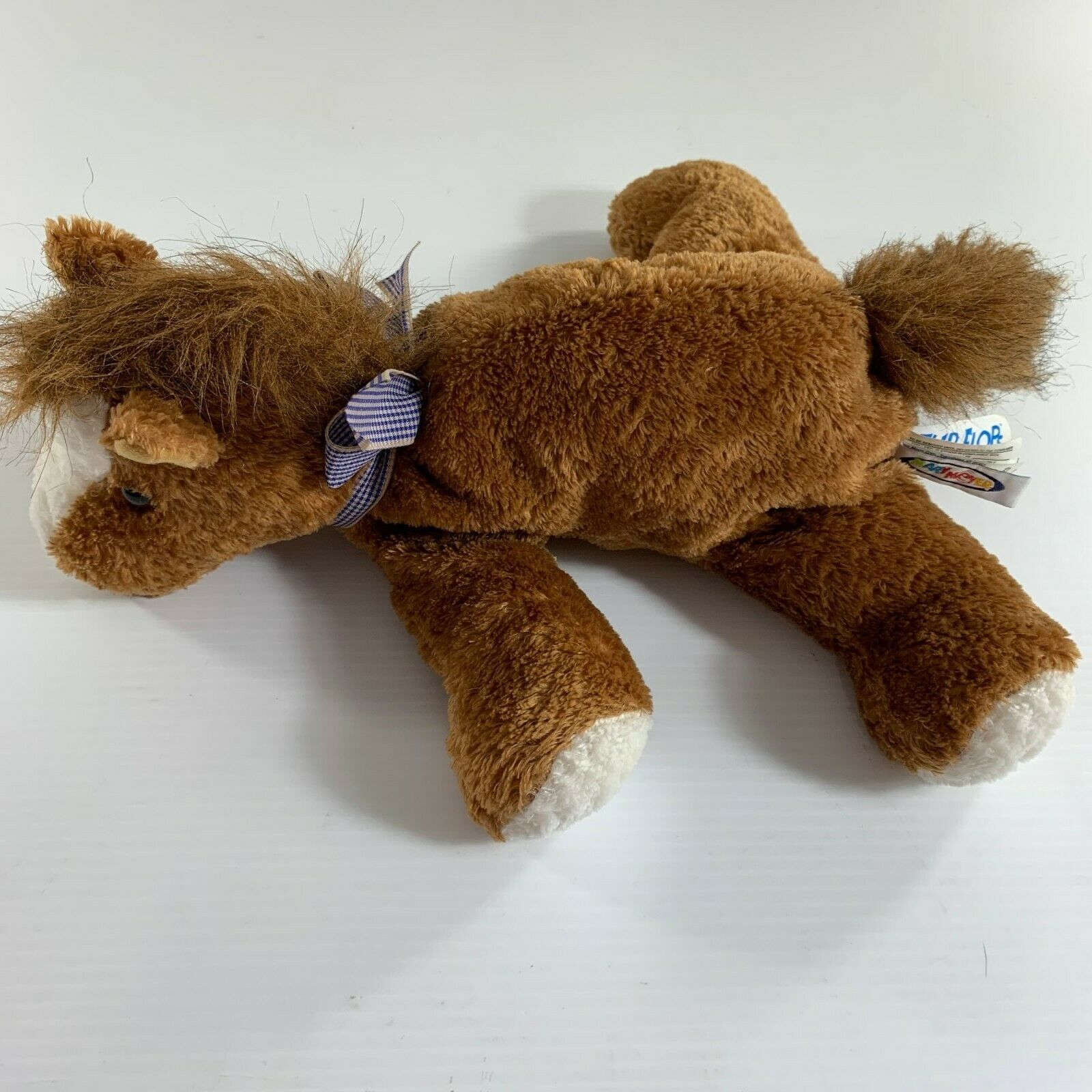 "Mary Meyer Flip Flops Horse Brown Plush Stuffed Animal 13"" Extremely Relaxed"