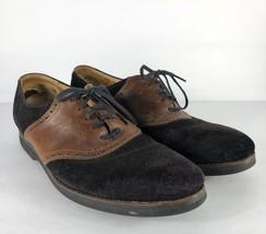 Cole Haan Men's 10.5 D Shoes Black Brown Leather Suede Dress Lace - $31.67