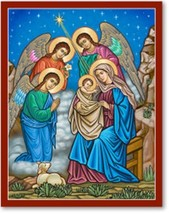 "And the Angels Were Amazed Icon - 3"" x 4"" Prints With Lumina Gold - $15.95"