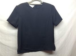 Petite Sophisticate Black Short Sleeve Blouse Sz S