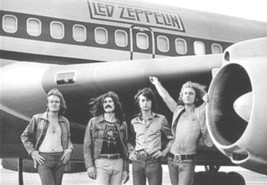 Led Zeppelin Poster 24x34 in The Starship Jet Robert Plant Jimmy Page UK Import  image 1
