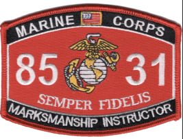 """4.5"""" MARINE CORPS MOS 8531 MARKSMANSHIP INSTRUCTOR  EGA EMBROIDERED PATCH - $16.24"""