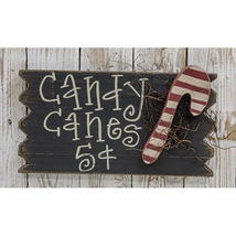 "Rustic Style Candy Canes 5 Cents Wooden Sign 14"" W - $36.99"