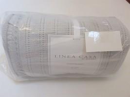 Sferra Linea Casa ruffled Summer Queen Bed Blanket Grey New - $129.15