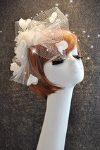 Hand Made Charming Pure White Beads Petal Netting Bridal Veil Comb