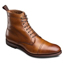 Handmade Brown Cap Toe Boot, Men's Leather Lace Up Ankle Boot, Formal We... - $149.99+