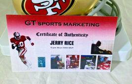 JERRY RICE / NFL H.O.F / AUTOGRAPHED SAN FRANCISCO 49ERS MINI HELMET / RICE HOLO image 7