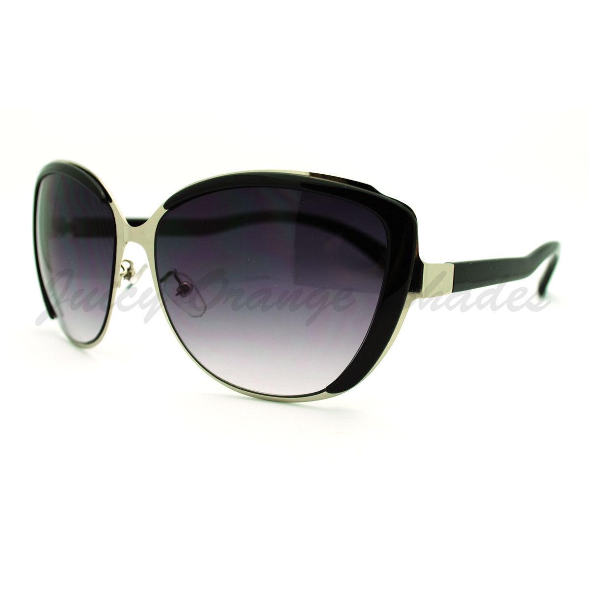 Round Oversized Cateye Sunglasses Womens Designer Fashion Shades