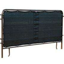 Cashel Stall Panel Screen Multiple Brass Grommets Adjustment Black U-PS10 - $66.32