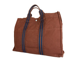Auth HERMES Fourre Tout MM Brown Canvas Tote Bag HF17062L - $189.00