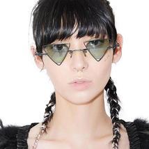 Retro Sun Glasses Steappunk Weird Sunglasses Fashion Triangular Hollow E... - $49.90