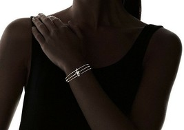 Fortuni Gold Plated Triple Star Adjustable Open Bangle Cuff Bracelet image 2