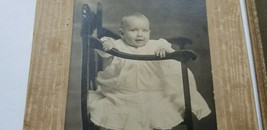 EIGHT Antique Cute CHILDREN & BABY RPPC PHOTOS & CABINET CARDS Toddlers ... - $15.75