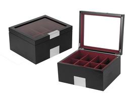 Executive Luxury Unisex Black Wood Belt Box Valet Jewelry Organizer - $74.24