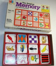MB The Original Memory Card Matching Game 1980 Vintage  #4664- Complete - $46.00